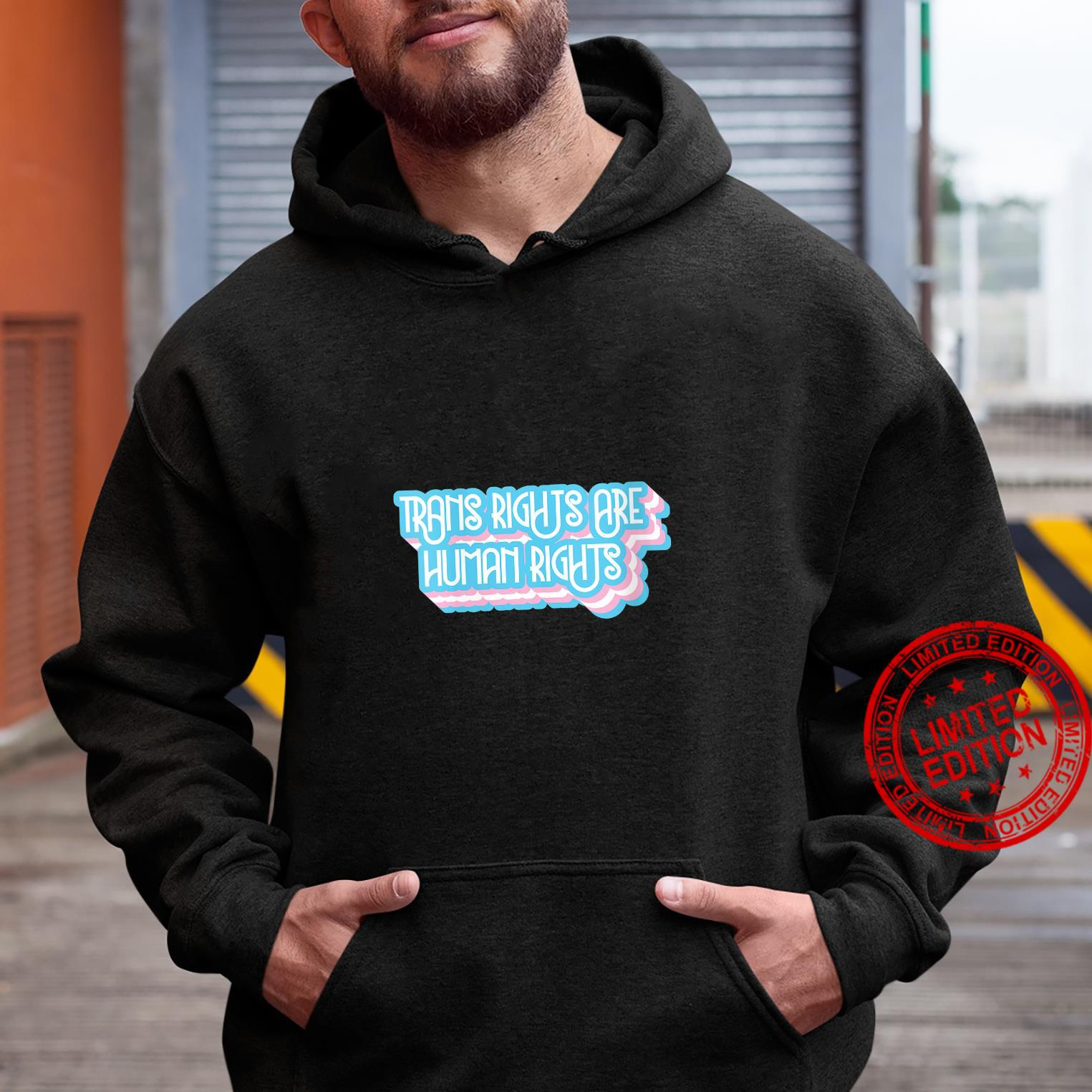 Womens Trans Rights Are Human Rights Trans and LGBT Design Shirt hoodie