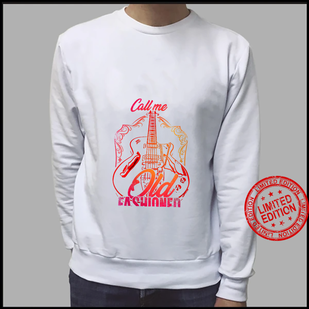 Womens Vintage Call Me Old Fashioned Guitarist Guitar Player Shirt sweater
