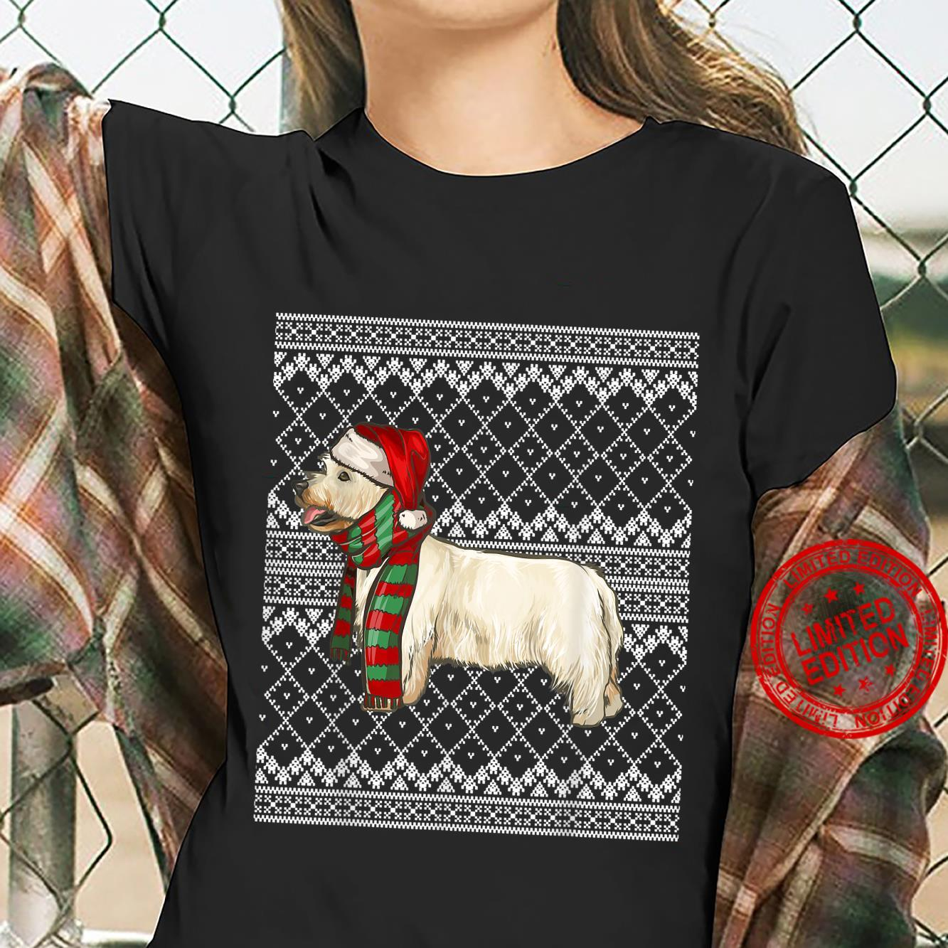 Xmas West Highland White Terrier Santa Claus Ugly Christmas Shirt ladies tee