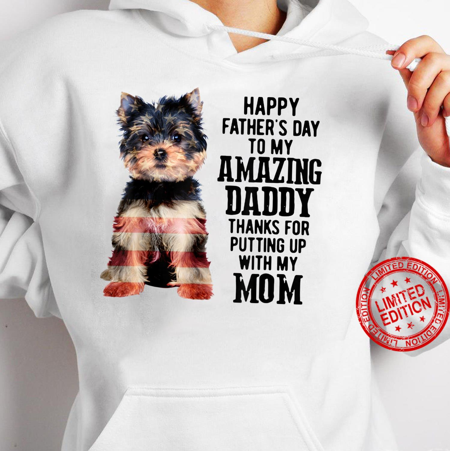 Yorkshire Terrier Fathers Day To My Amazing Dad Yorkie Shirt hoodie