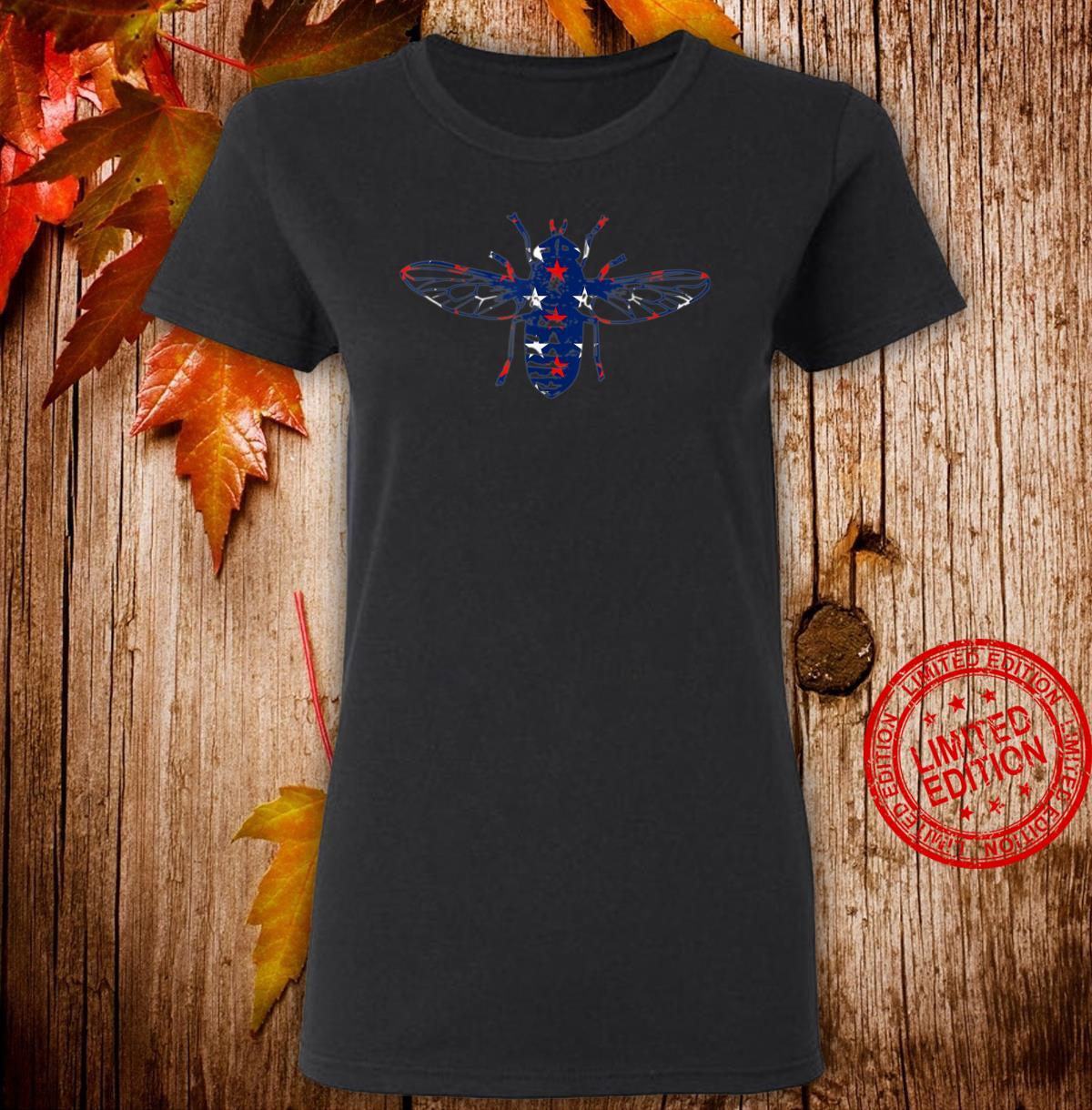Back the Fly Red White and Blue stars Shirt ladies tee