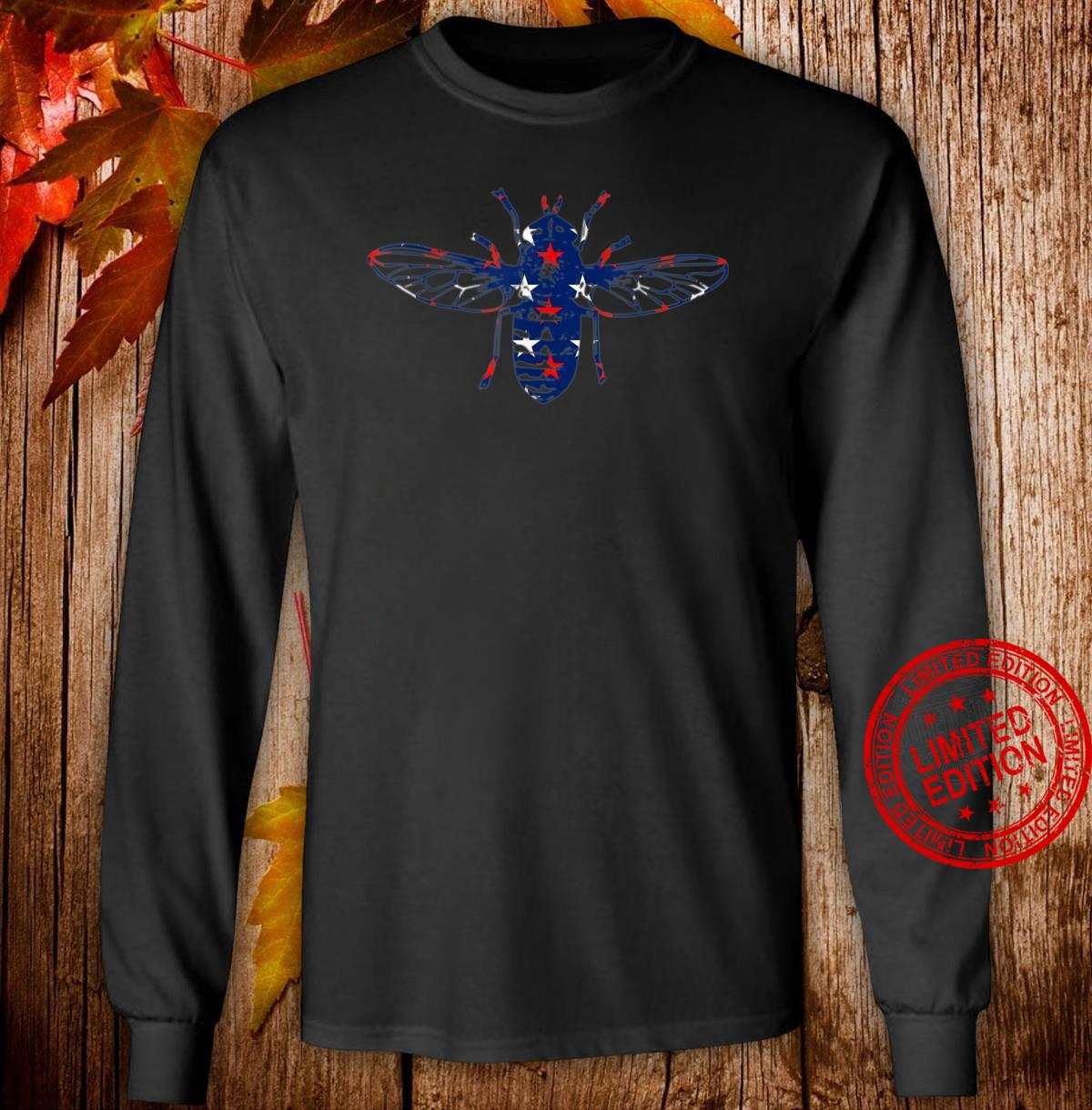 Back the Fly Red White and Blue stars Shirt long sleeved