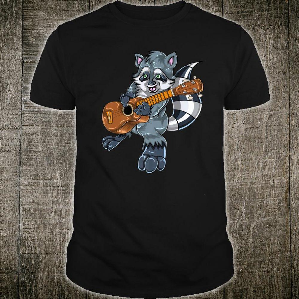 Bass Guitar Player Animal Guitarist Music Racoon Shirt