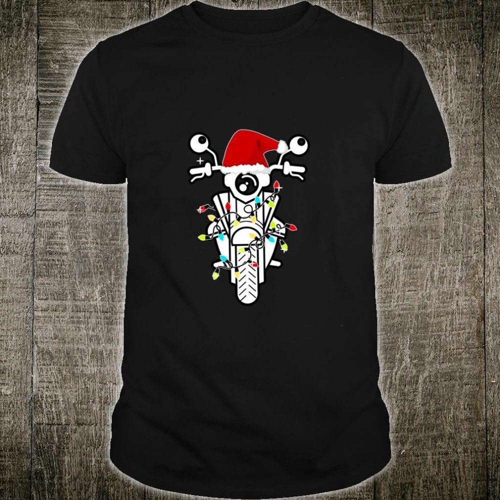 Biker Bike Santa Hat Motorbike Motorcycle Christmas Shirt