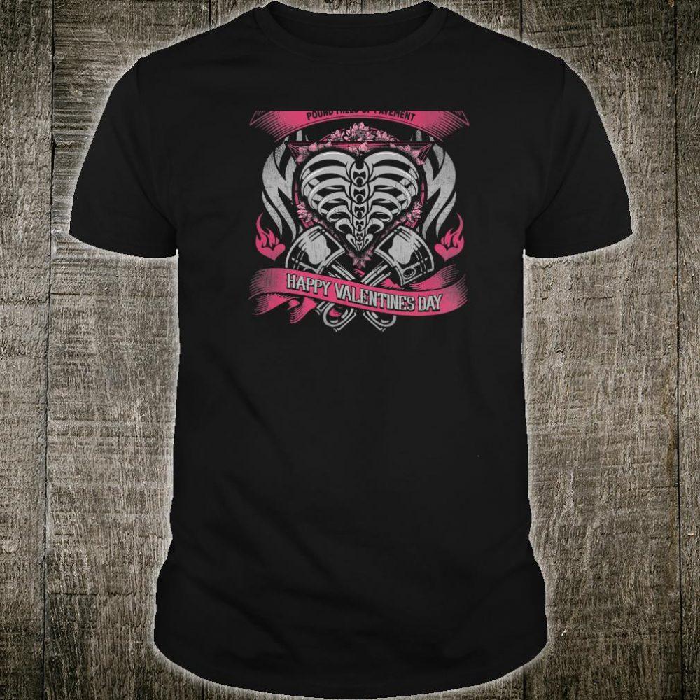 Biker Chick Valentines Day Motorcycle Shirt Heart Shirt