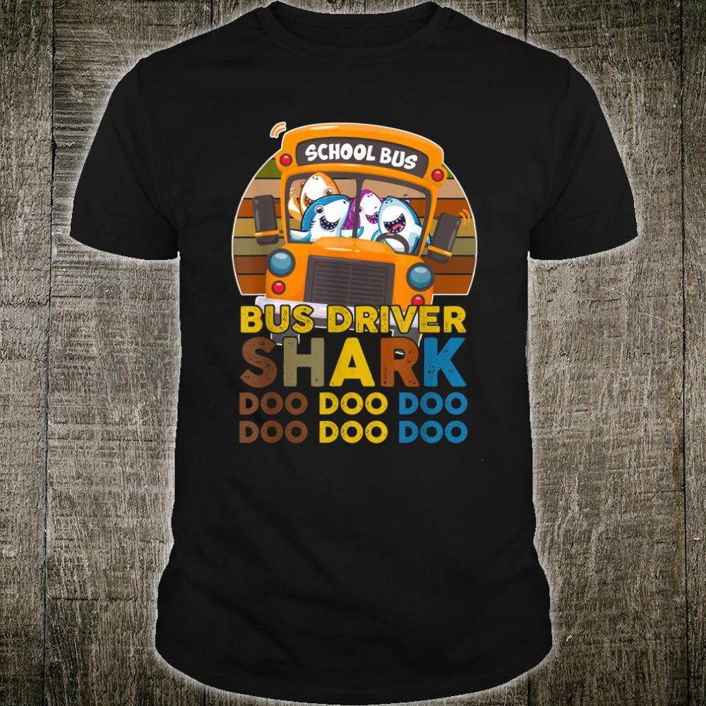 Bus Driver Shark Doo Doo School Bus Driver Shirt