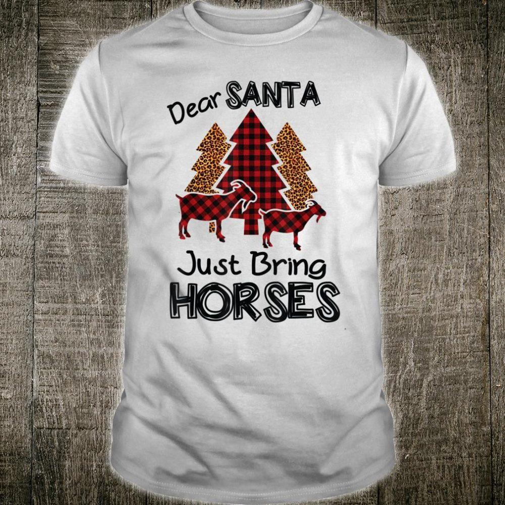Dear Santa Just Bring Horses Leopard Buffalo Plaid Christmas Shirt