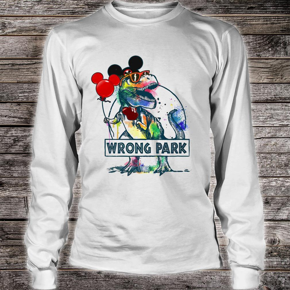 Dinosaur T-rex and Mickey mouse wrong park shirt long sleeved