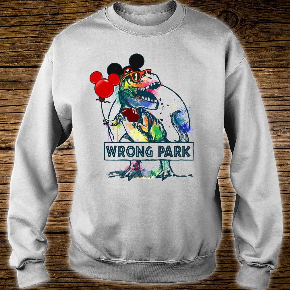 Dinosaur T-rex and Mickey mouse wrong park shirt sweater