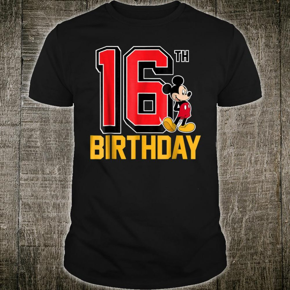 Disney Mickey 16th Birthday Standard Shirt