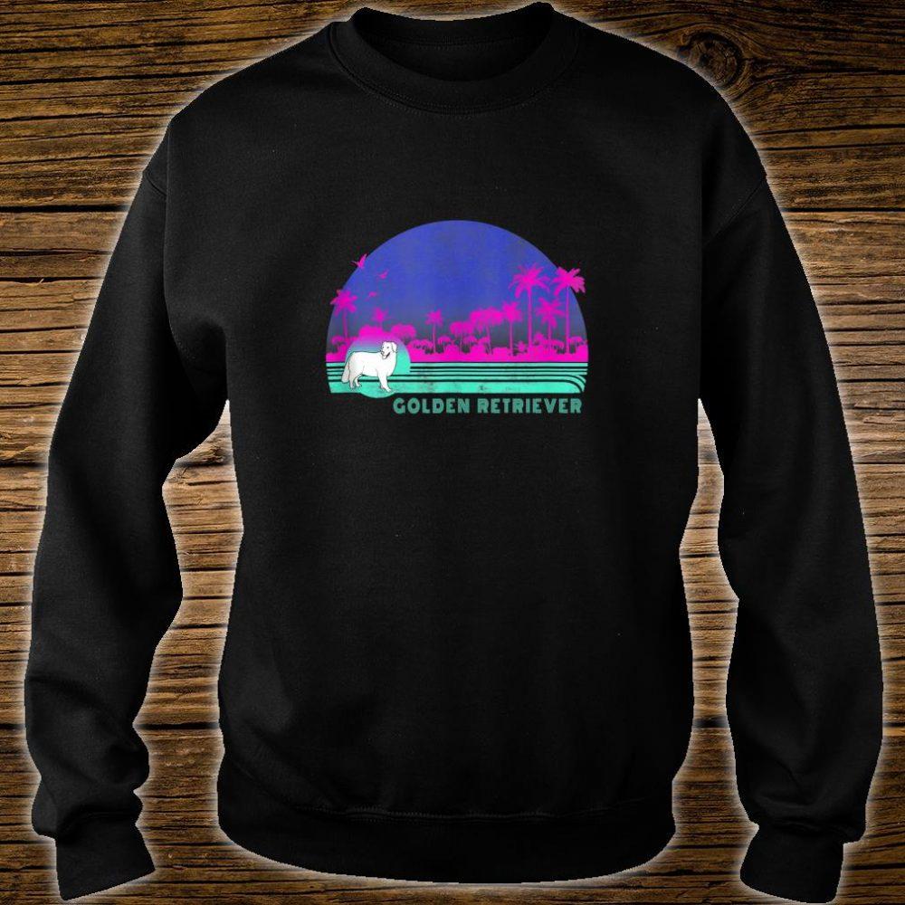 Dog Breed Golden Retriever Retro Palm Tree Style Shirt sweater