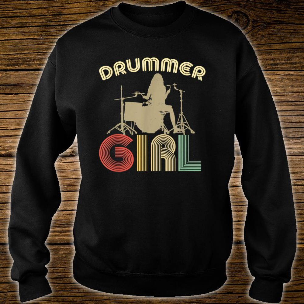 Drummer Girl Retro Vintage Drumming Musician Percussionist Shirt sweater