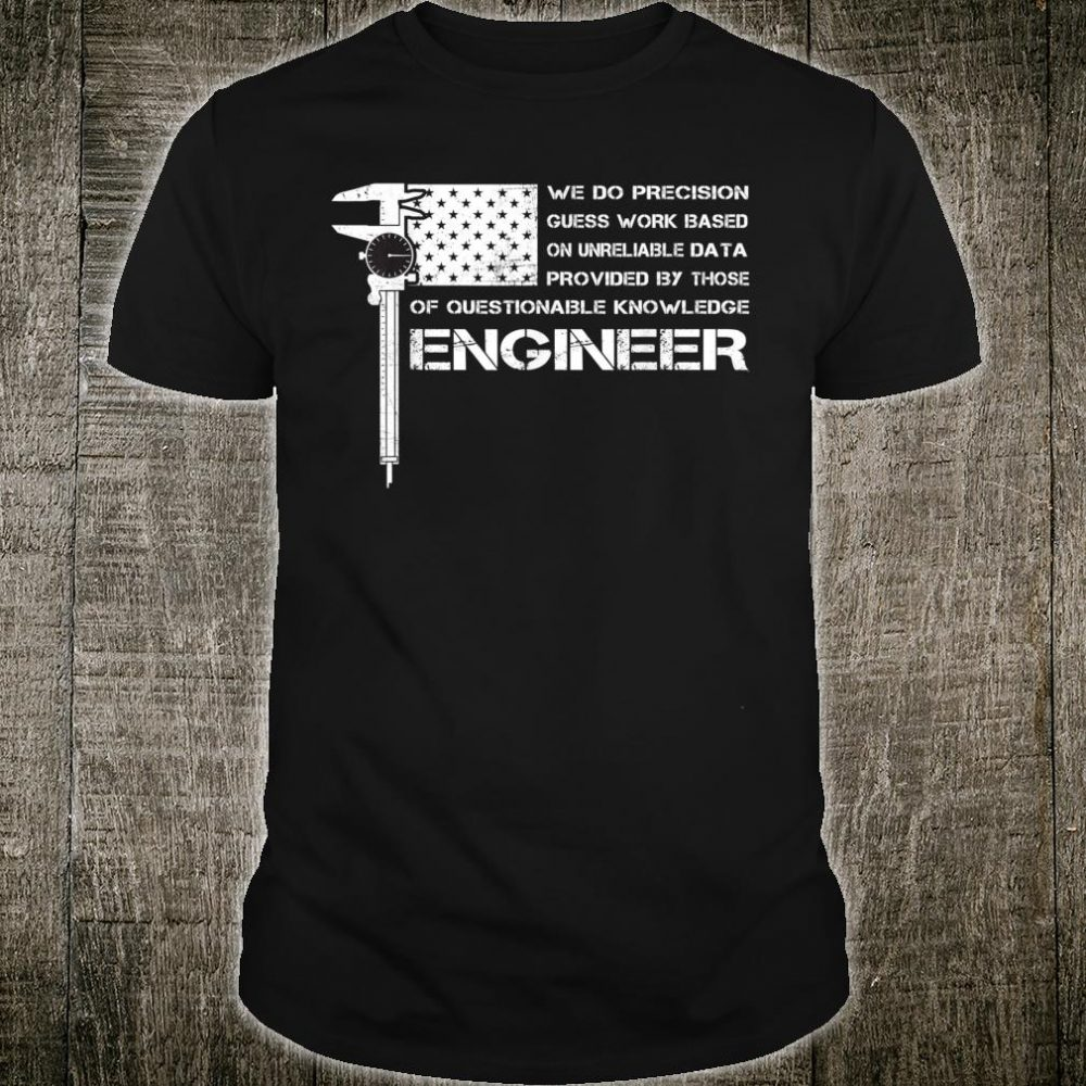 ENGINEER American USA flag perfect Shirt