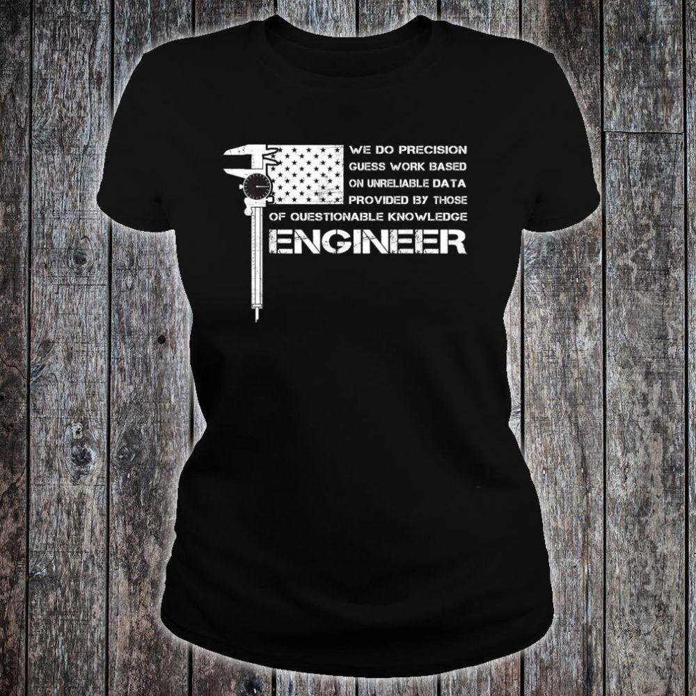 ENGINEER American USA flag perfect Shirt ladies tee