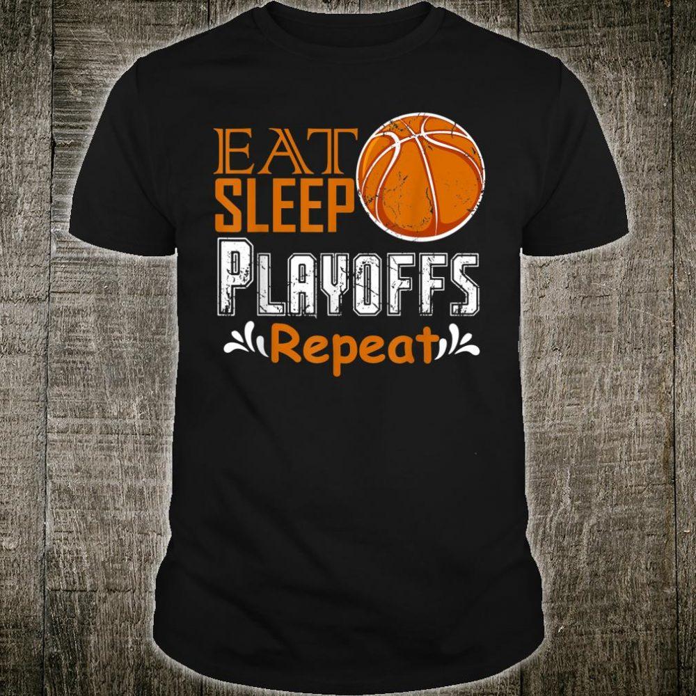 Eat Sleep Playoffs Repeat College March Tournament Brackets Shirt