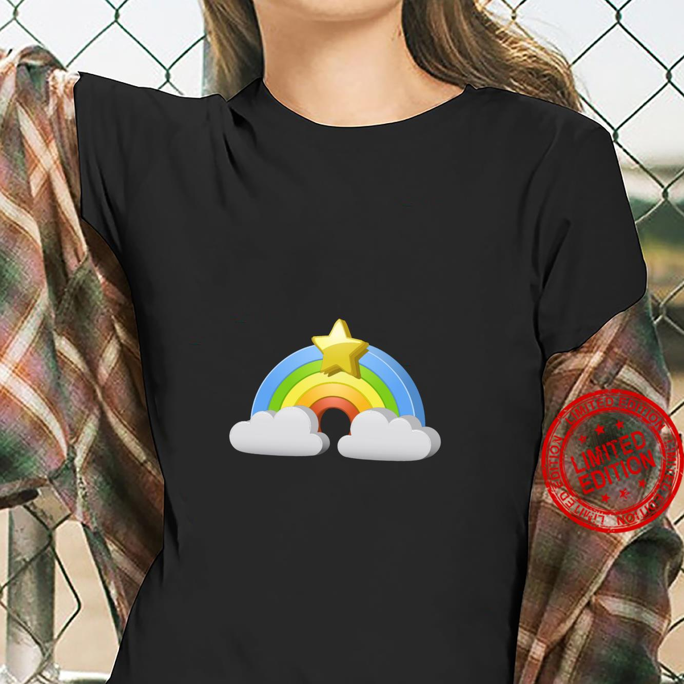 Extravagant Rainbow with a Star on Top Shirt ladies tee