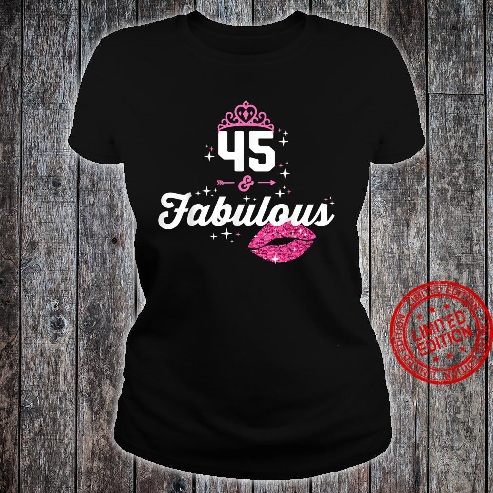 Fabulous at 45 Year Old 45th Birthday Chapter 45 Shirt ladies tee