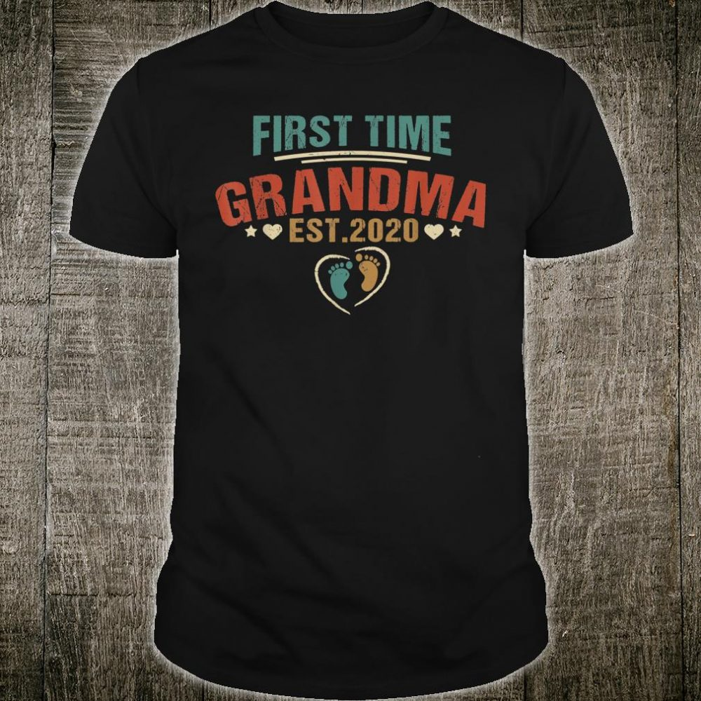First Time Grandma Est 2020 Promoted To Be Proud Grandmother Shirt