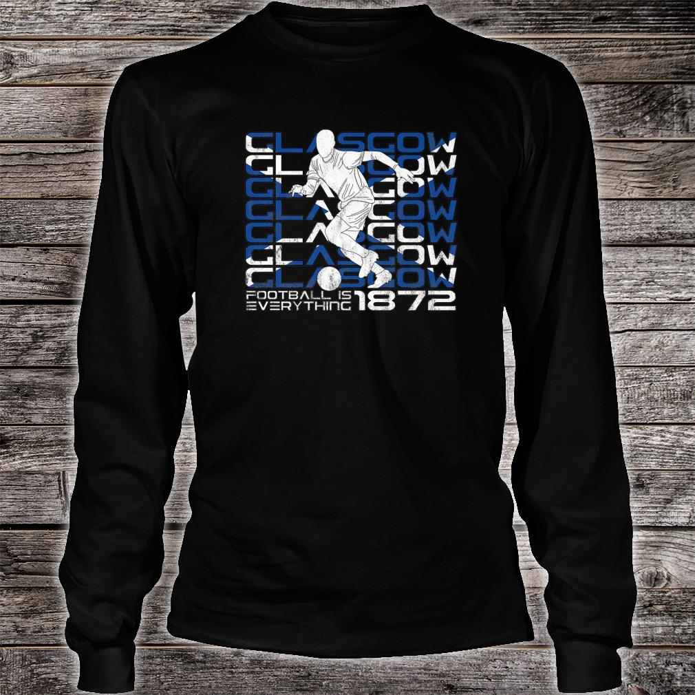 Football Is Everything Glasgow Ibrox Attack Retro Shirt long sleeved