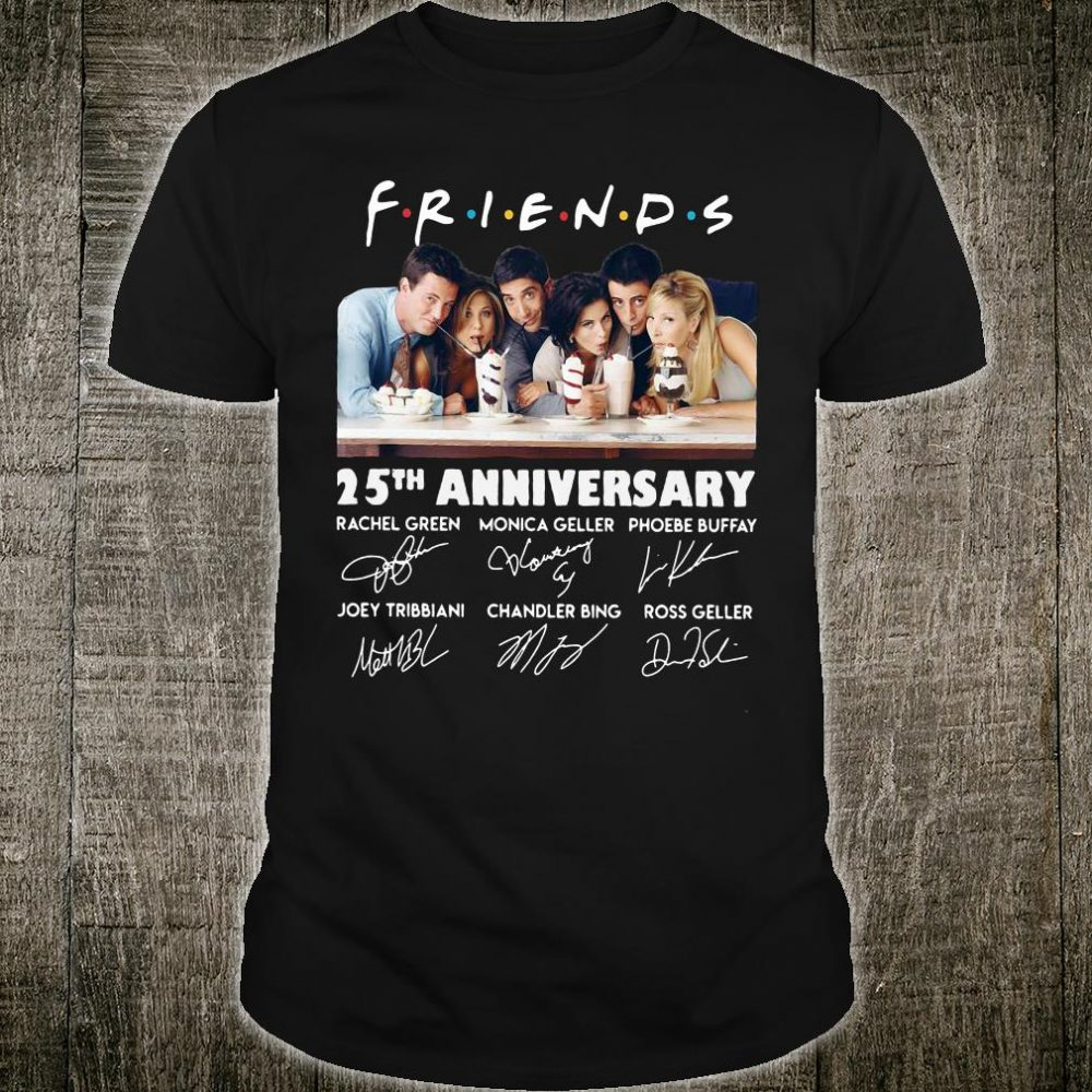 Friends 25th anniversary signatures shirt