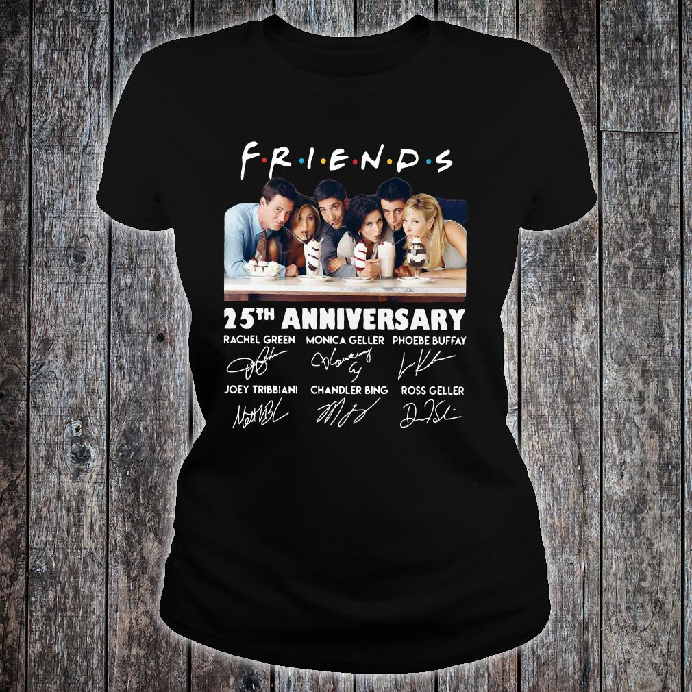 Friends 25th anniversary signatures shirt ladies tee
