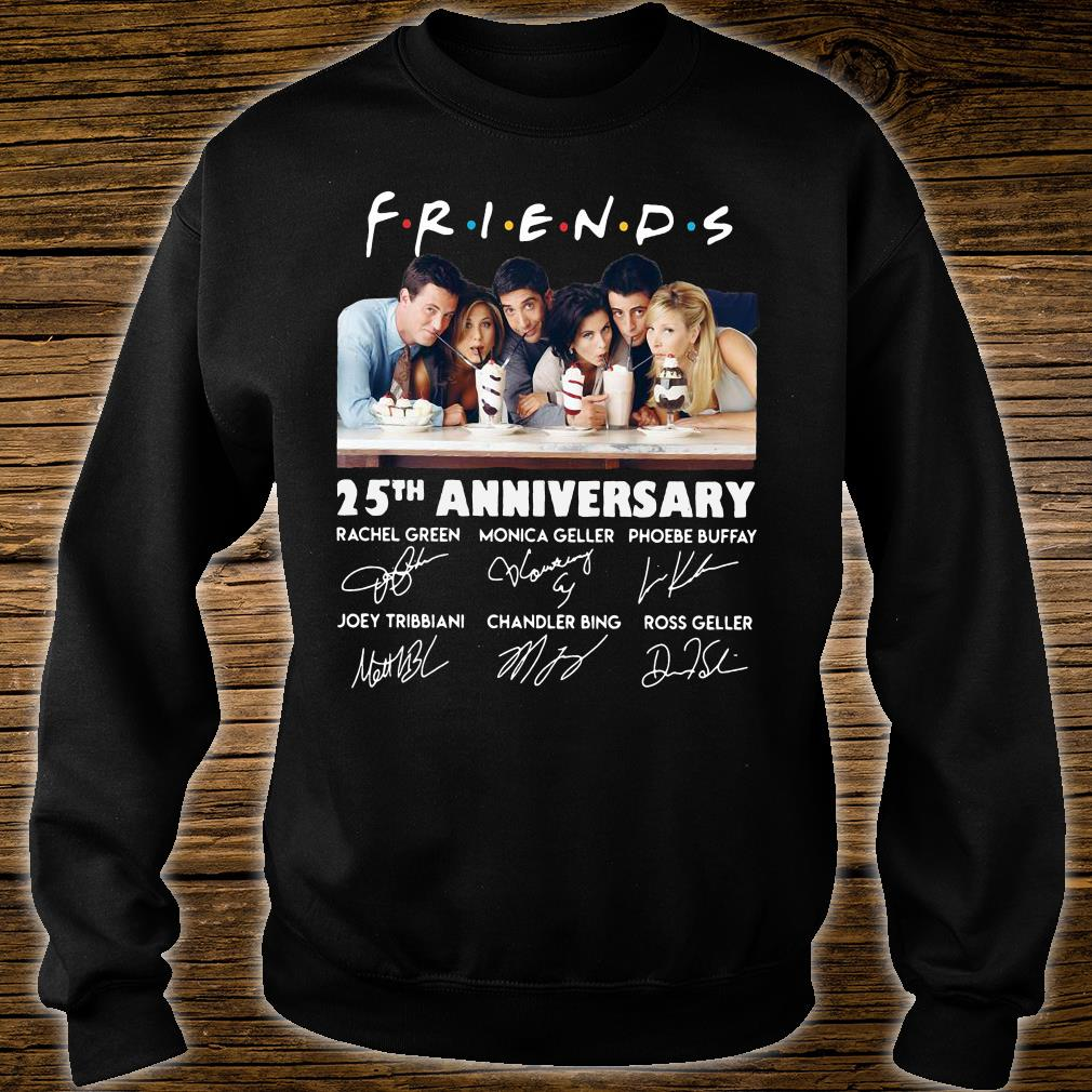 Friends 25th anniversary signatures shirt sweater