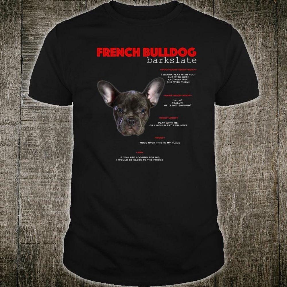 Funny Black French Bulldog Translate Shirt