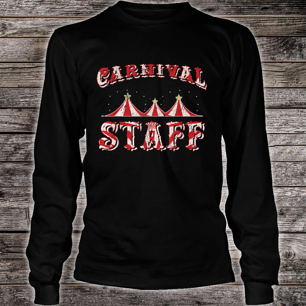 Funny Carnival Staff Costume Circus Party Girl Shirt long sleeved
