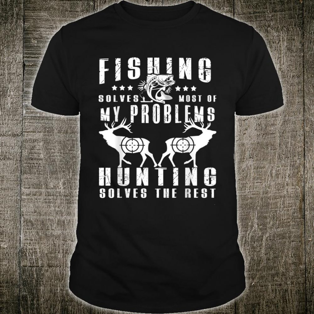Funny Fishing And Hunting Christmas Humor Hunter Cool Shirt