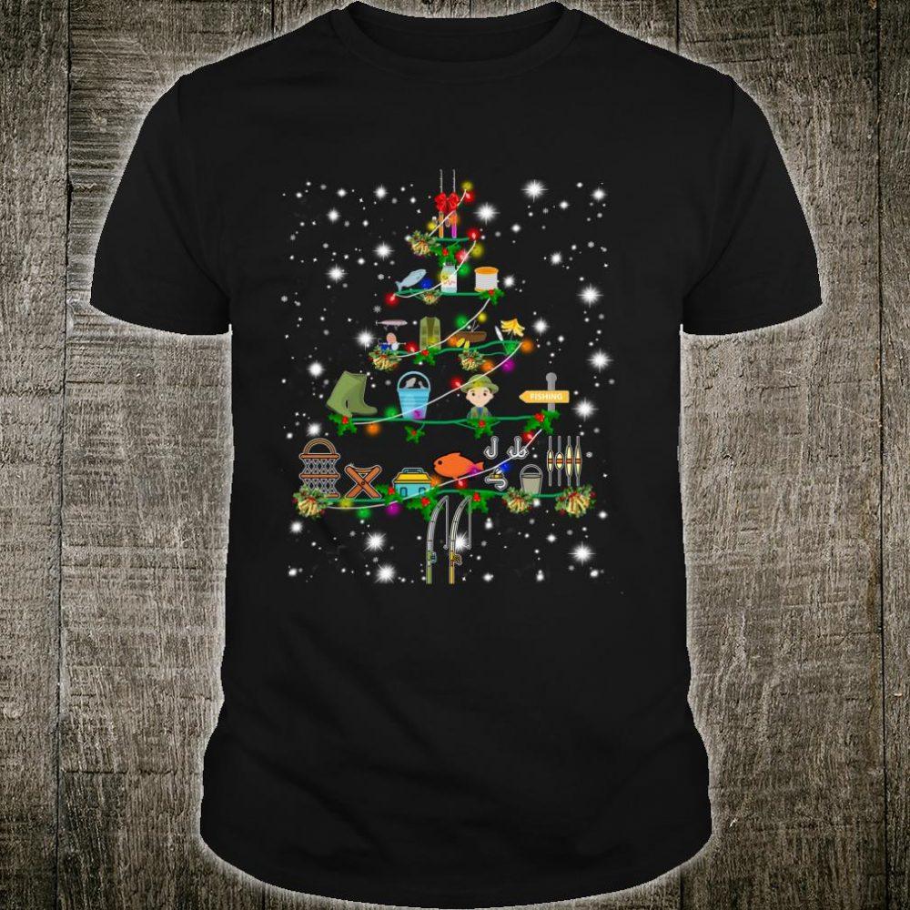 Funny Fishing Christmas Tree Ornament Decor Costume Shirt