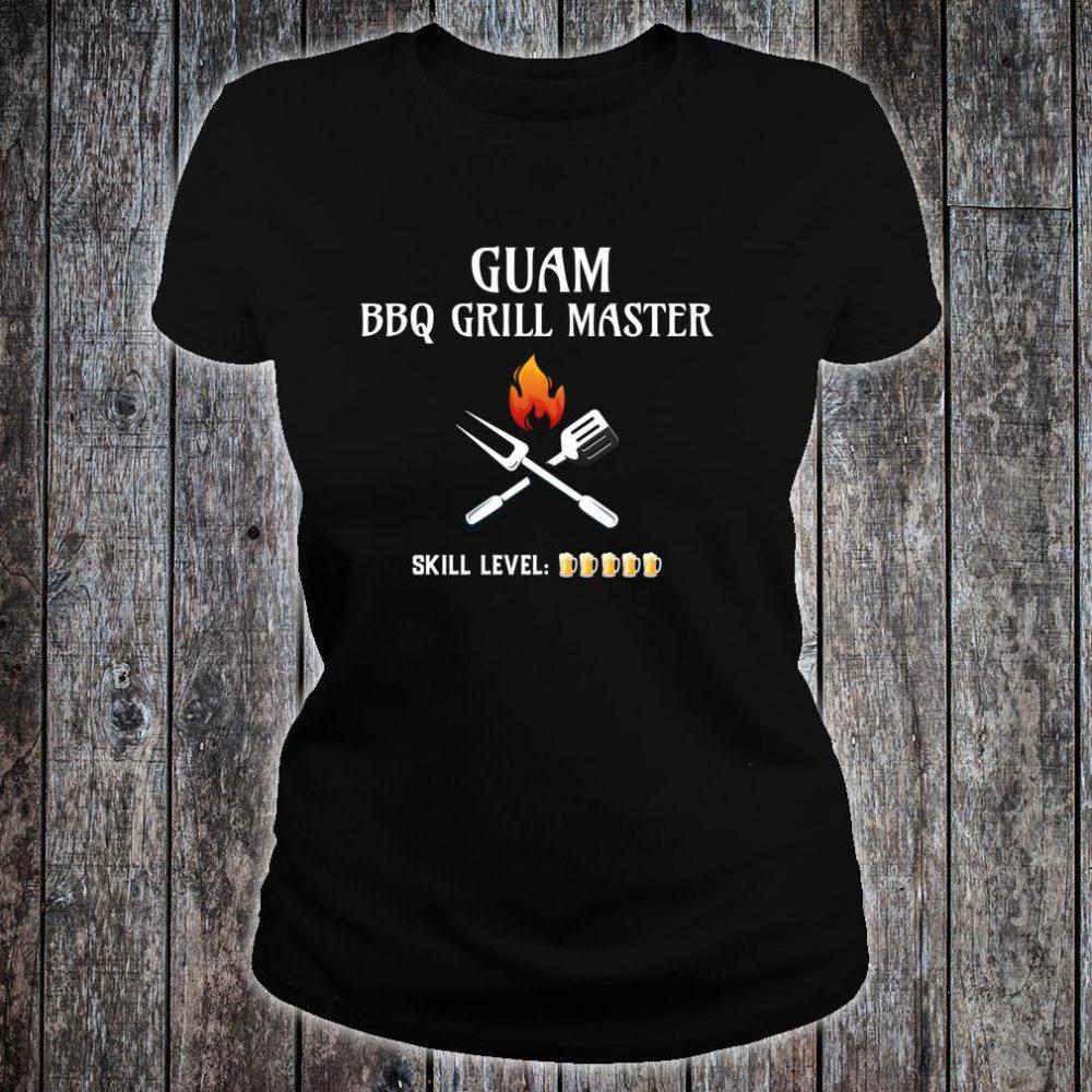 Funny Guam BBQ Grill Master Shirt ladies tee