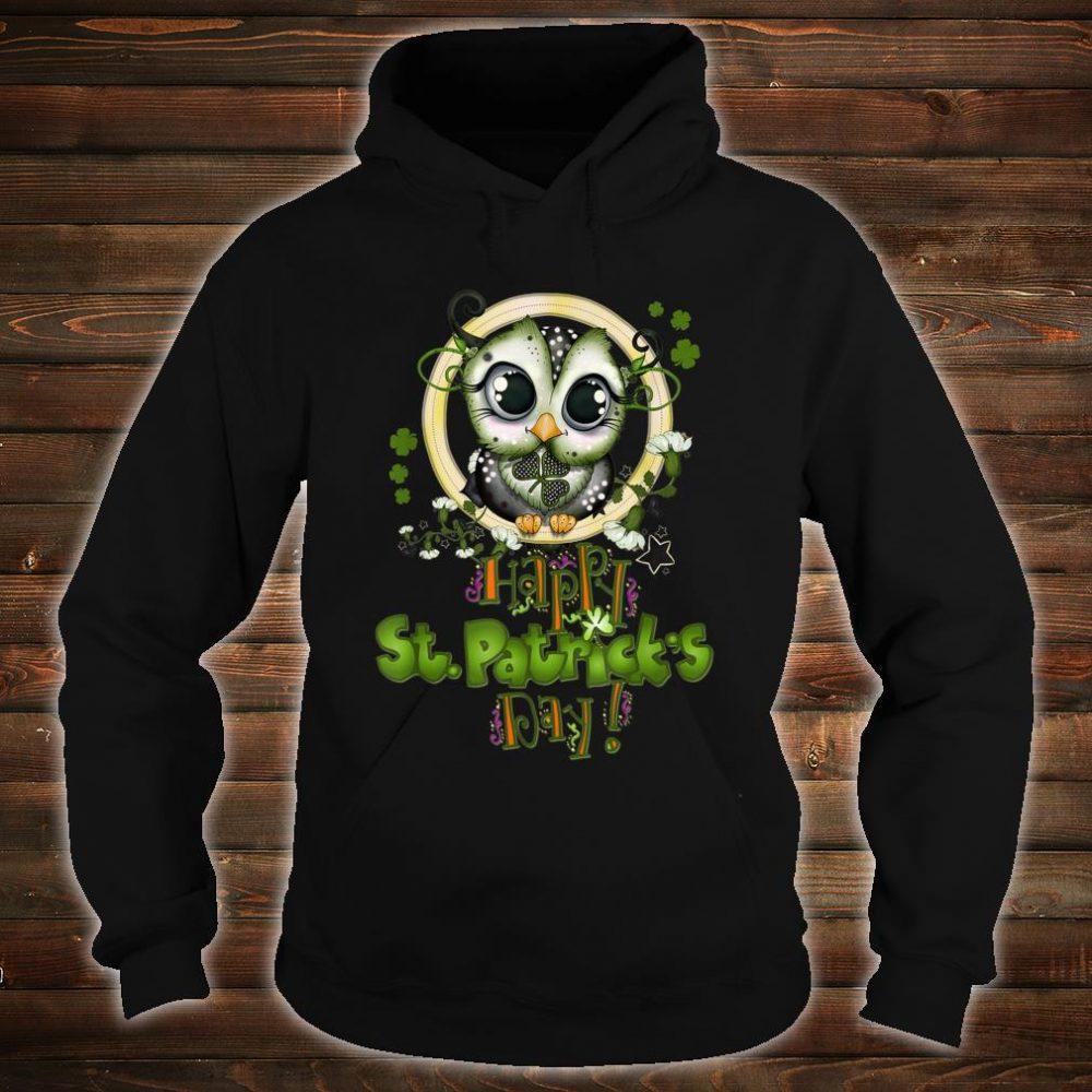 Funny Happy St Patricks Day Cute Owl Shirt hoodie