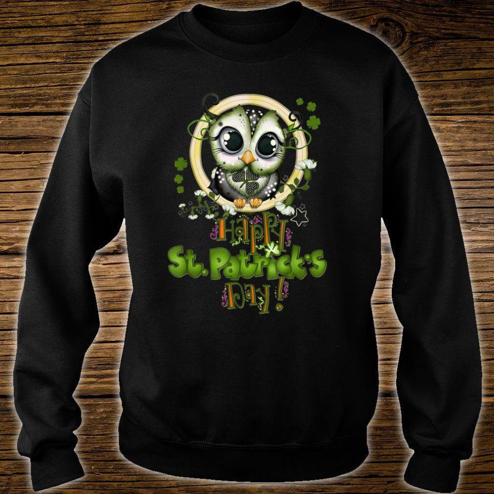 Funny Happy St Patricks Day Cute Owl Shirt sweater