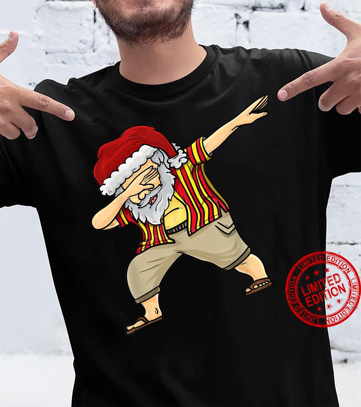 Funny Merry Christmas in July Florida Dabbing Santa Shirt