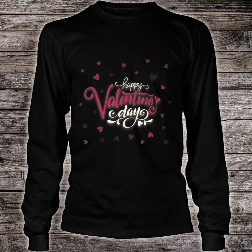 Happy Valentines Day Heart Shirt long sleeved