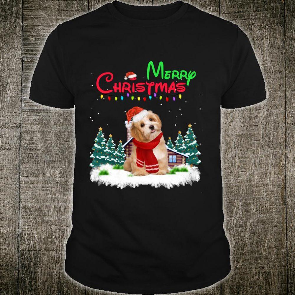 Havanese Santa Hat Christmas Lights Merry Christmas Shirt