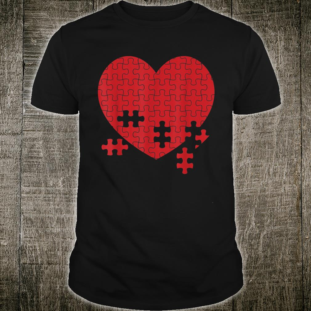 Heart Jigsaw Puzzle Cute Puzzle Addicts Shirt