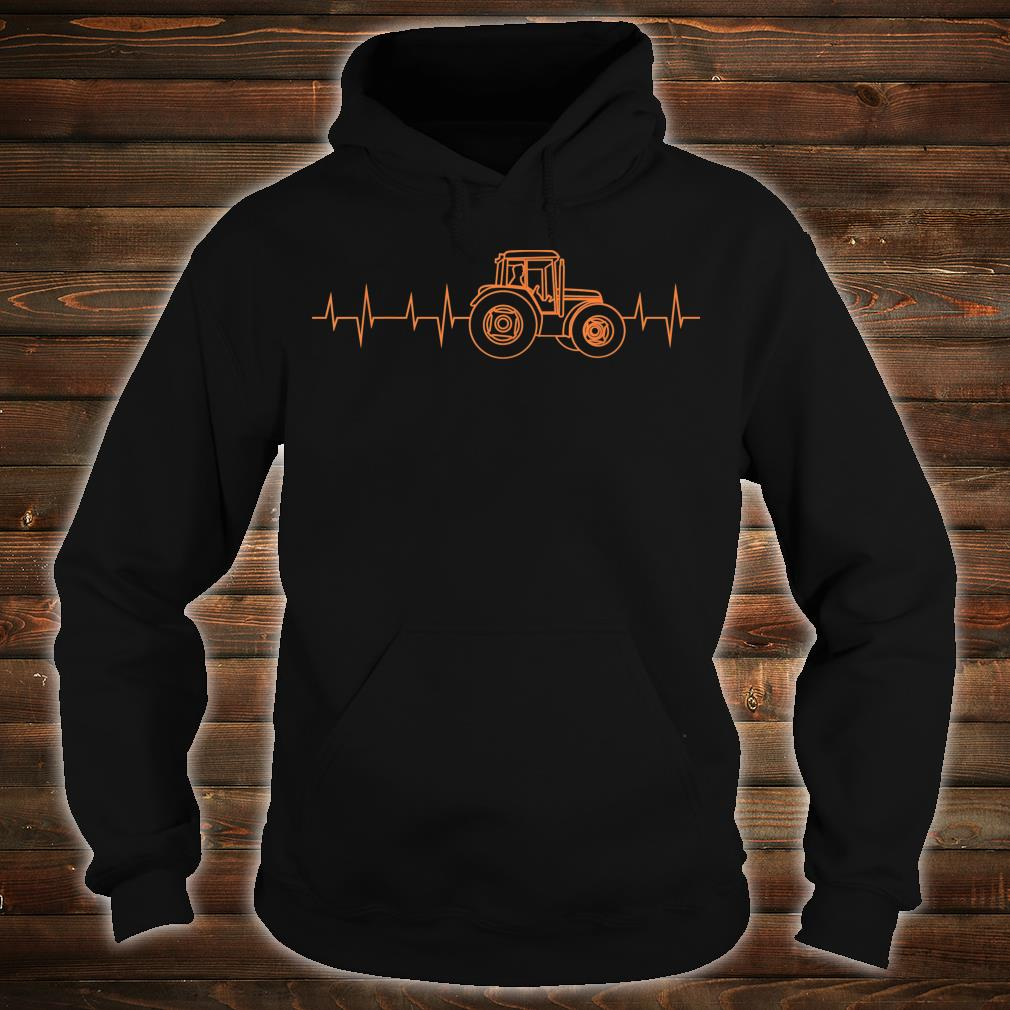 Heartbeat Tractor Cute Heart For Cultivation Shirt hoodie