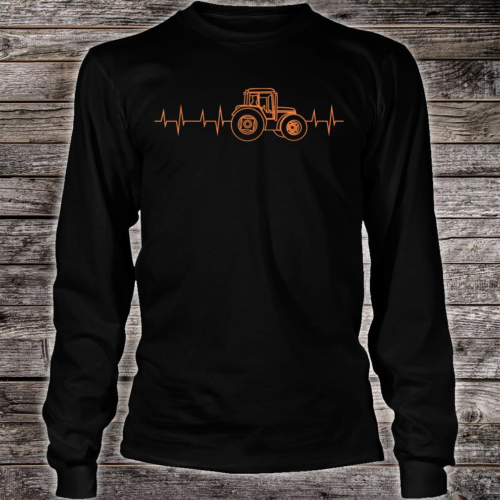 Heartbeat Tractor Cute Heart For Cultivation Shirt long sleeved