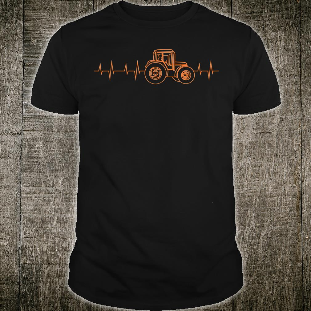 Heartbeat Tractor Cute Heart For Cultivation Shirt