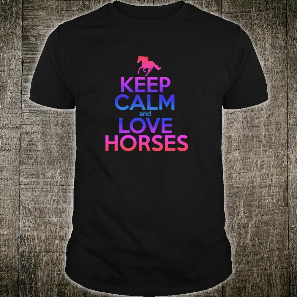 Horse KEEP CALM LOVE HORSES Equestrian Ridern Shirt