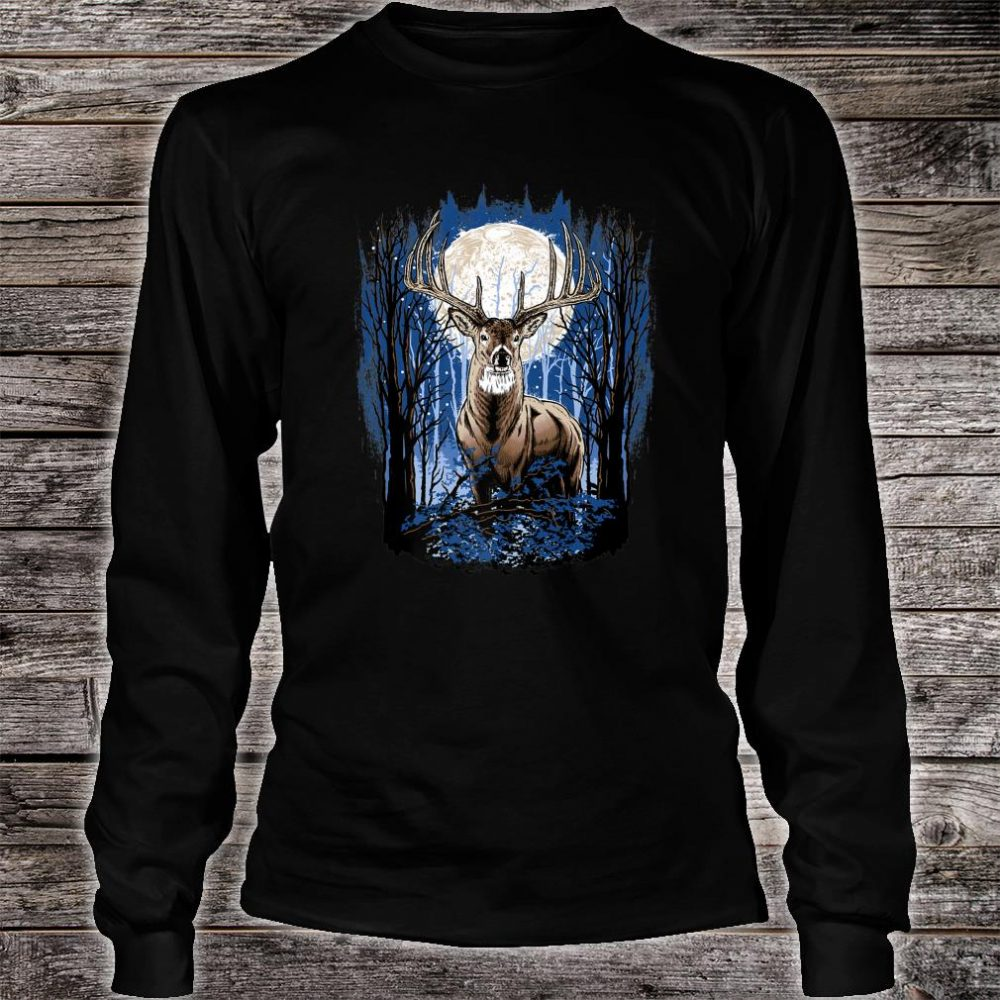 Hunters Deer Hunting Big Whitetail Buck Shirt long sleeved