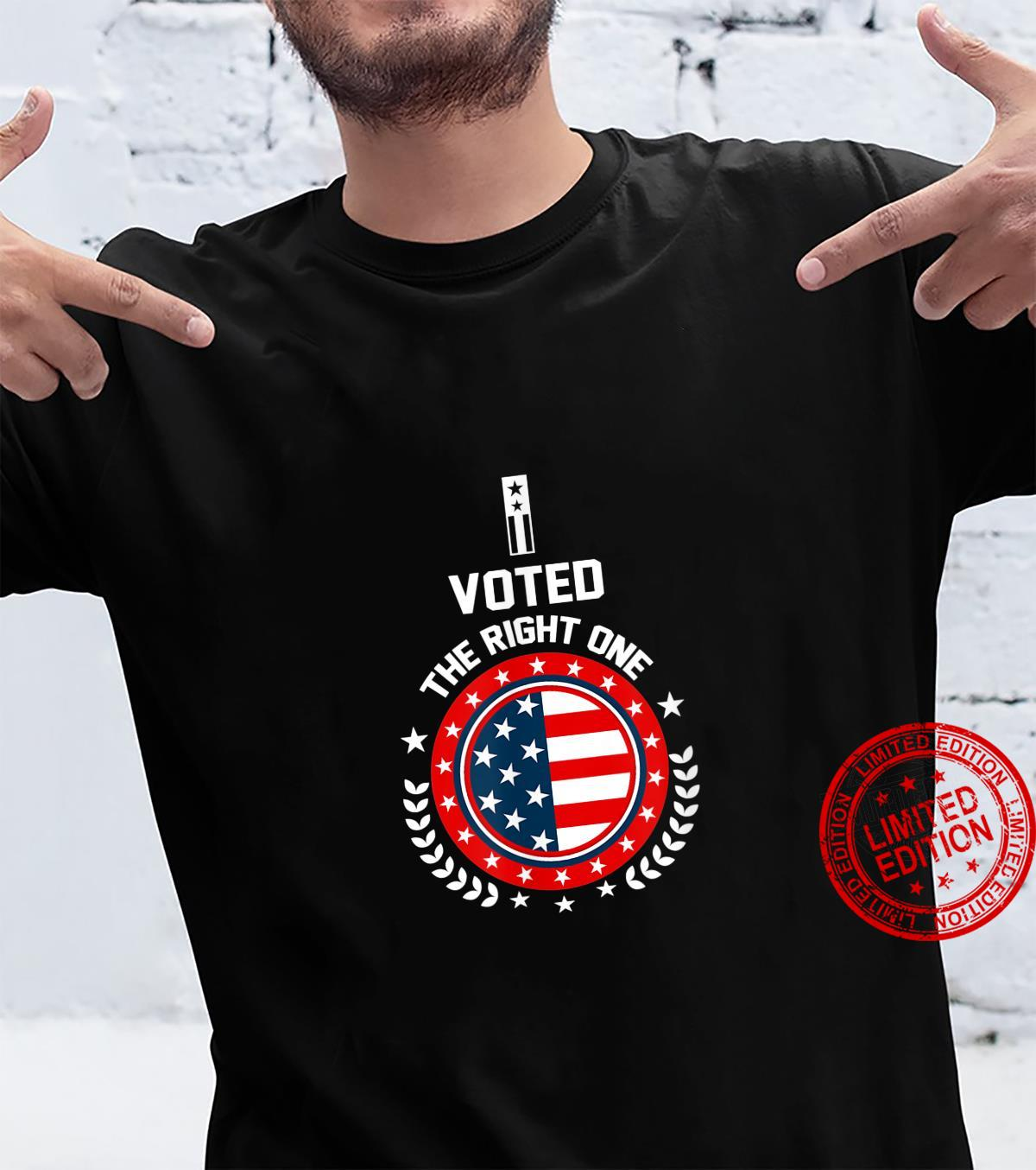 I VOTED THE RIGHT ONE US UNITES STATES ELECTION 2020 TRUMP Shirt