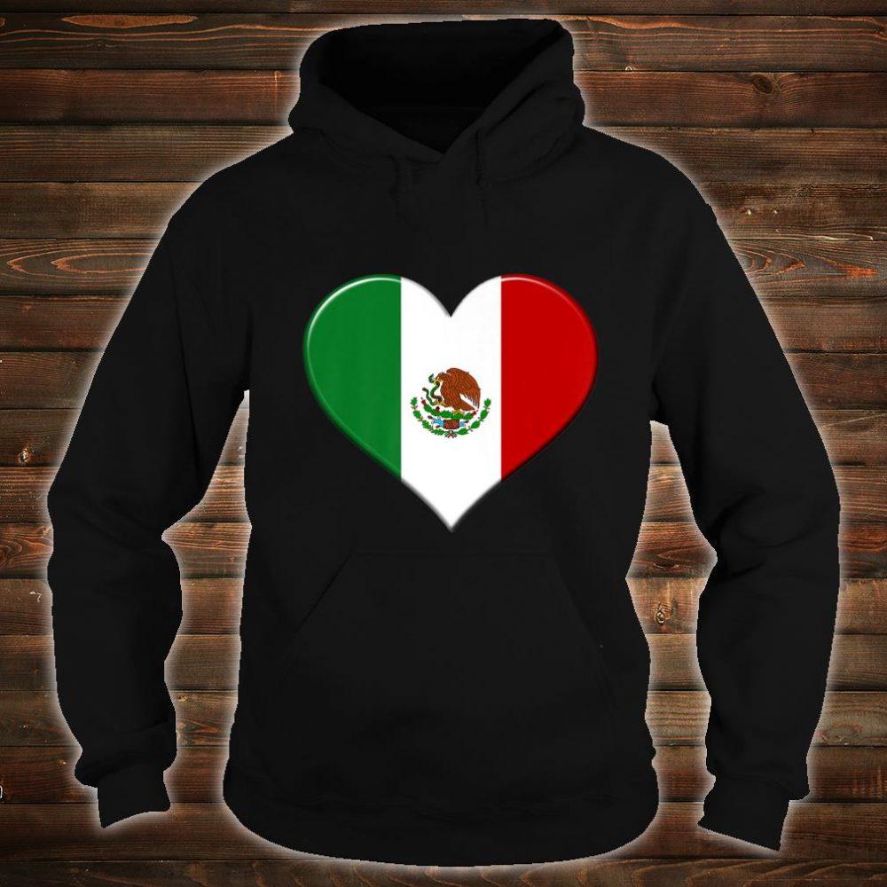 I love Mexico National Flag Pride Heart Shirt hoodie