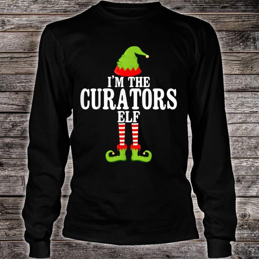 I'm TheCURATORS Elf Group Matching Family Christmas Shirt long sleeved