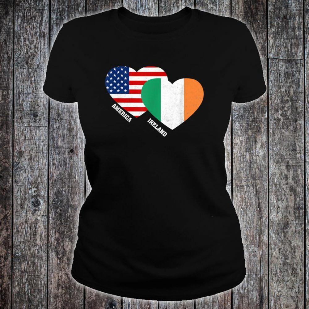 Ireland Flag Irish American Pride Vintage Shirt ladies tee