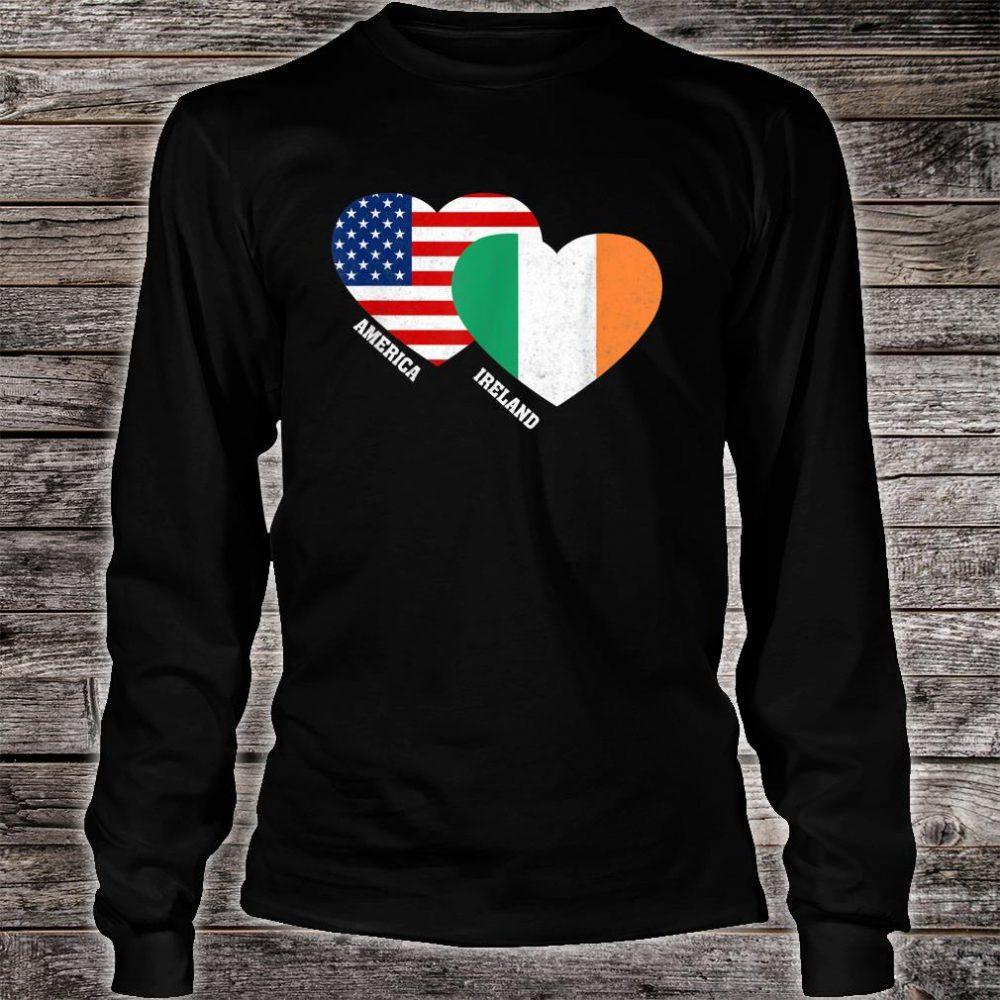 Ireland Flag Irish American Pride Vintage Shirt long sleeved
