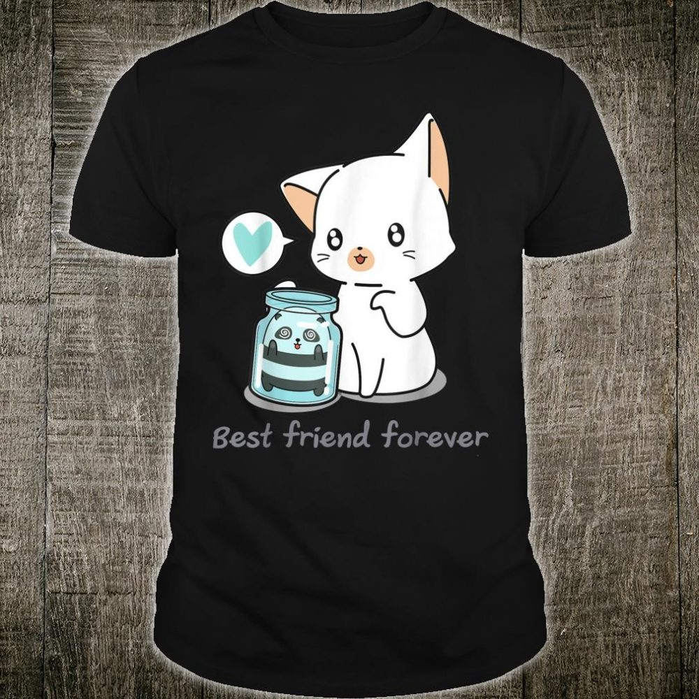 Japanese Kawaii Anime Cute Cat Panda Best Friend Forever Shirt