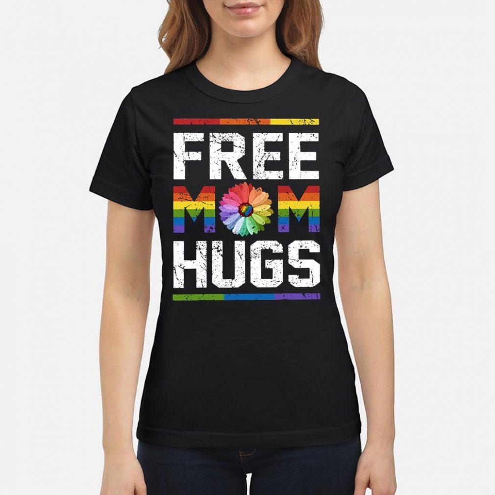 LGBT free mom hugs shirt ladies tee