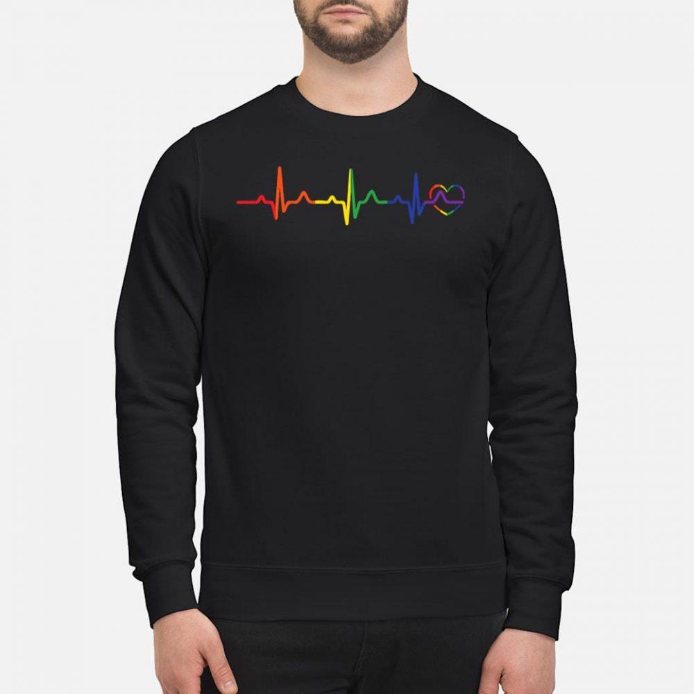 LGBTQ rainbow heartbeat gay pride shirt sweater